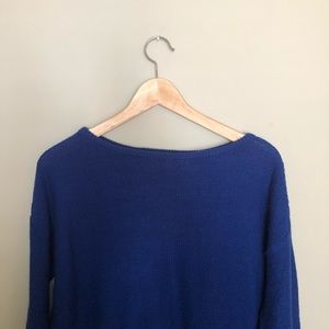 Zara Electric Blue Knit Sweater